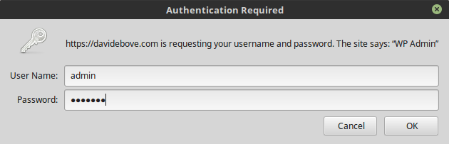 Login dialog example image